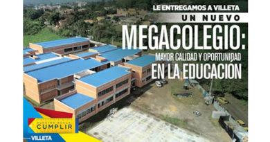 Gobernación le entrega a Villeta un nuevo megacolegio