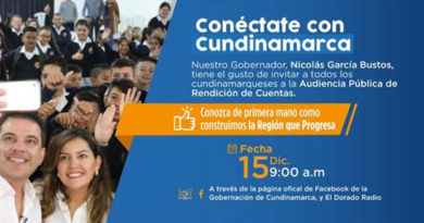 Cundinamarca les cuenta a sus habitantes cómo la región va por la senda del progreso
