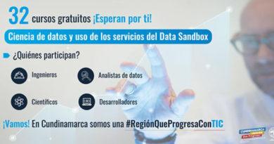 Cursos gratuitos con Microsoft en ciencia de datos y uso de los servicios del Data Sandbox en Cundinamarca